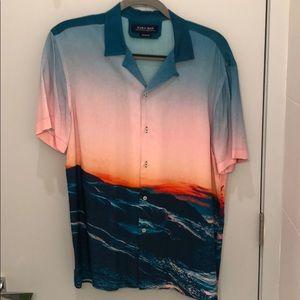 Zara Man Beautiful Sunset Short Sleeve Shirt